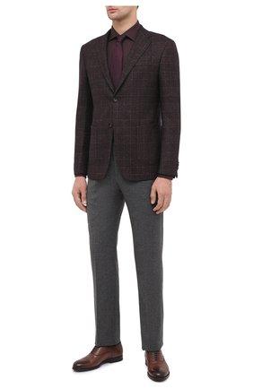 Мужская рубашки из хлопка и кашемира ERMENEGILDO ZEGNA бордового цвета, арт. UVX44/SRF5 | Фото 2