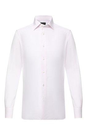 Мужская хлопковая сорочка ERMENEGILDO ZEGNA светло-розового цвета, арт. 801502/9MS0BR | Фото 1