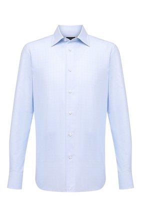 Мужская хлопковая сорочка ERMENEGILDO ZEGNA голубого цвета, арт. 801420/9MS0PA | Фото 1