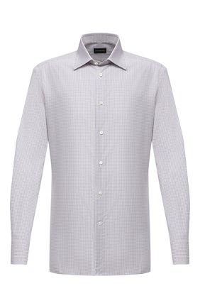 Мужская хлопковая сорочка ERMENEGILDO ZEGNA сиреневого цвета, арт. 801329/9MS0PA | Фото 1