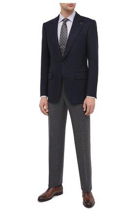 Мужская хлопковая сорочка ERMENEGILDO ZEGNA сиреневого цвета, арт. 801329/9MS0PA | Фото 2