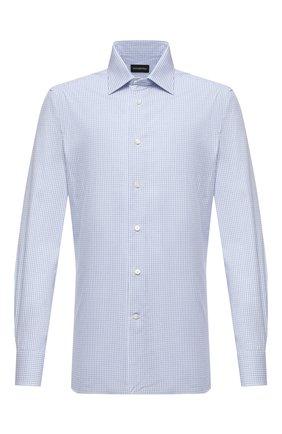 Мужская хлопковая сорочка ERMENEGILDO ZEGNA голубого цвета, арт. 801318/9MS0PA | Фото 1