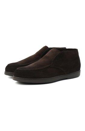 Мужские замшевые ботинки DOUCAL'S темно-коричневого цвета, арт. DU2654ED0-UM024TM00 | Фото 1