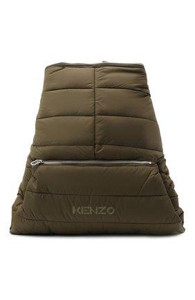 Мужской текстильный рюкзак kenzomania KENZO хаки цвета, арт. FA65SA003F08 | Фото 1