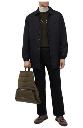 Мужской текстильный рюкзак kenzomania KENZO хаки цвета, арт. FA65SA003F08 | Фото 2