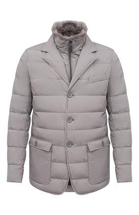 Мужская пуховая куртка HERNO серого цвета, арт. PI0641U/13220 | Фото 1