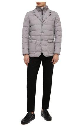 Мужская пуховая куртка HERNO серого цвета, арт. PI0641U/13220 | Фото 2