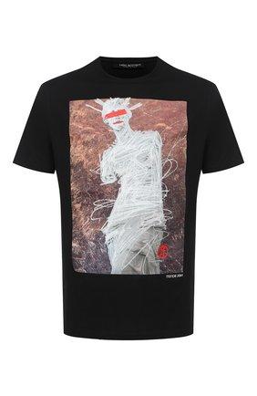 Мужская хлопковая футболка NEIL BARRETT черного цвета, арт. BJT859S/P502P | Фото 1