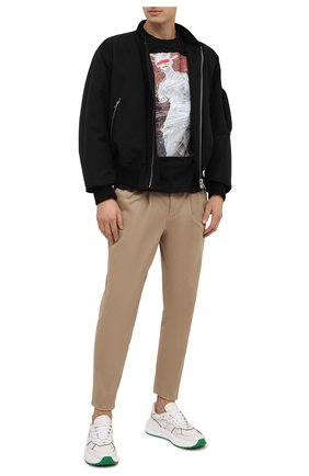 Мужская хлопковая футболка NEIL BARRETT черного цвета, арт. BJT859S/P502P | Фото 2