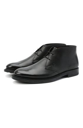 Мужские кожаные ботинки TOD'S черного цвета, арт. XXM62C0DH600LW | Фото 1