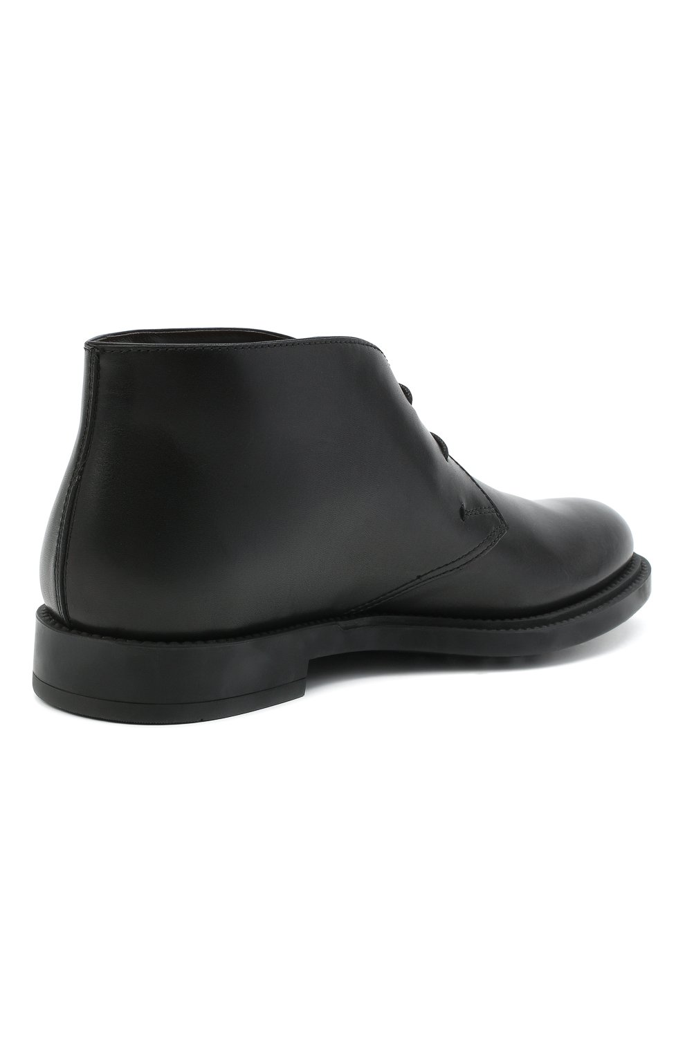 Мужские кожаные ботинки TOD'S черного цвета, арт. XXM62C0DH600LW   Фото 4 (Мужское Кросс-КТ: Ботинки-обувь, Дезерты-обувь; Материал внутренний: Натуральная кожа; Подошва: Плоская)