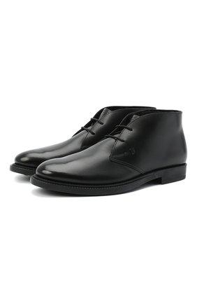 Мужские кожаные ботинки TOD'S черного цвета, арт. XXM62C0DH610LW | Фото 1
