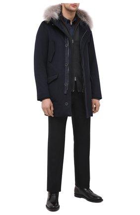 Мужские кожаные ботинки TOD'S черного цвета, арт. XXM62C0DH610LW | Фото 2