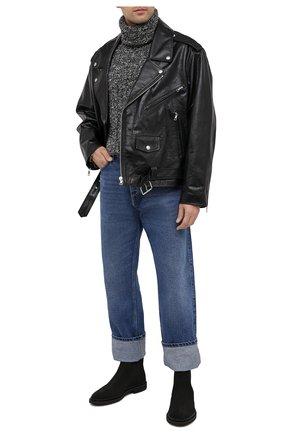 Мужские замшевые челси TOD'S черного цвета, арт. XXM89B0CD51HSE | Фото 2