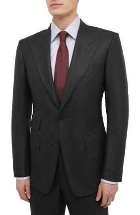 Мужской шерстяной костюм TOM FORD темно-коричневого цвета, арт. 822R31/21AL43 | Фото 2