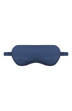Мужской шелковая маска для сна DEREK ROSE темно-синего цвета, арт. 0200-W0BU008 | Фото 1