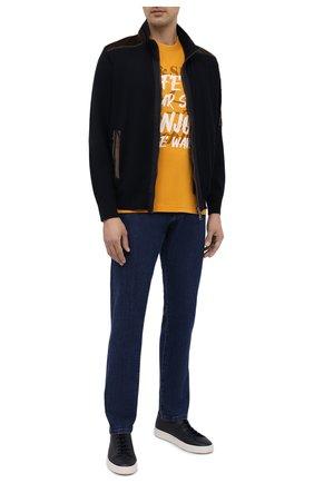 Мужская хлопковая футболка PAUL&SHARK желтого цвета, арт. A20P1692/C00   Фото 2