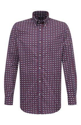 Мужская хлопковая рубашка PAUL&SHARK разноцветного цвета, арт. I20P3131/C00 | Фото 1