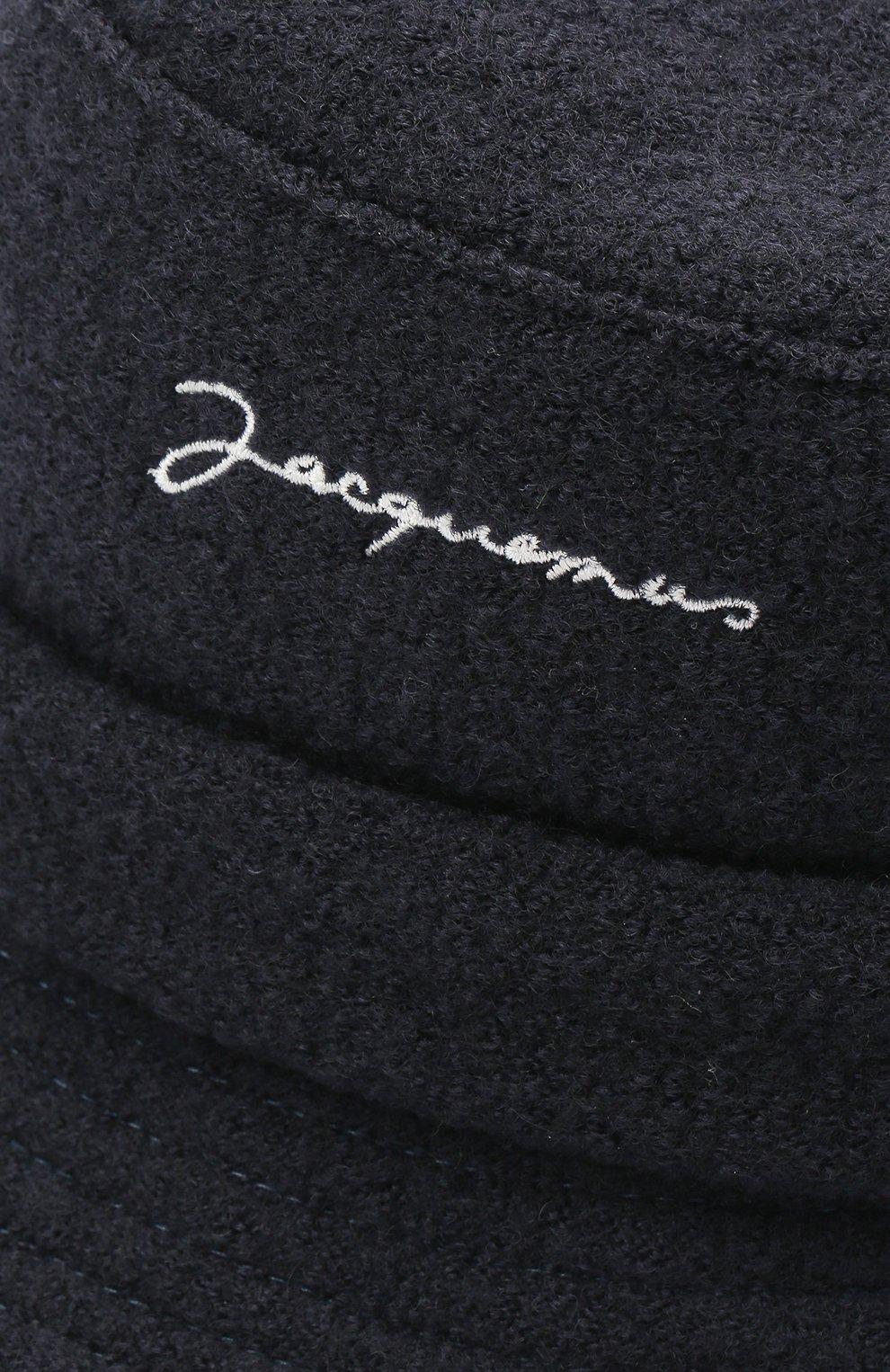 Мужская шерстяная панама le bob JACQUEMUS темно-синего цвета, арт. 206AC03/512380 | Фото 3
