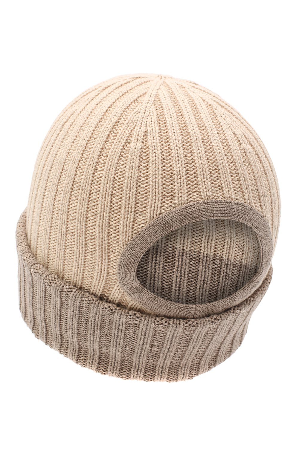 Мужская хлопковая шапка le bonnet JACQUEMUS бежевого цвета, арт. 206AC07/514160   Фото 2