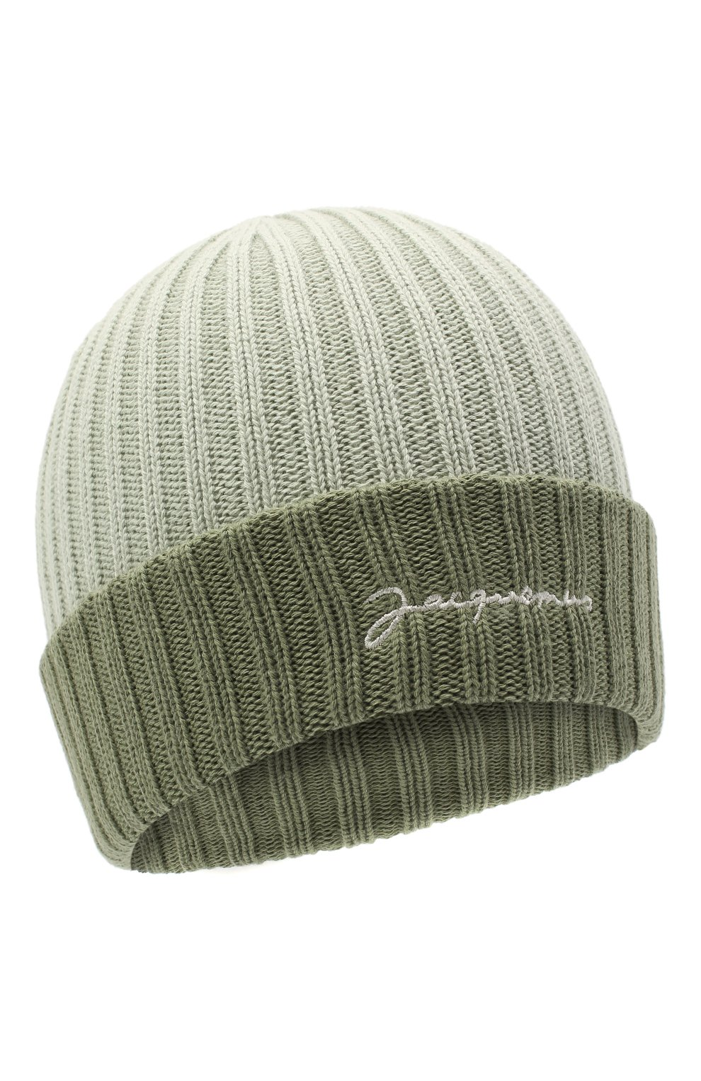 Мужская хлопковая шапка le bonnet JACQUEMUS зеленого цвета, арт. 206AC07/514560 | Фото 1