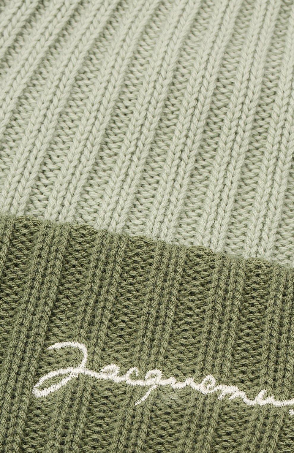 Мужская хлопковая шапка le bonnet JACQUEMUS зеленого цвета, арт. 206AC07/514560 | Фото 3
