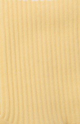 Мужские хлопковые носки JACQUEMUS желтого цвета, арт. 206AC12/515200 | Фото 2