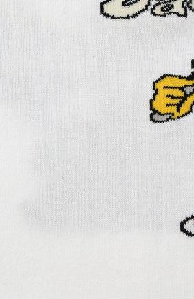 Мужские хлопковые носки JACQUEMUS белого цвета, арт. 206AC15/51501J | Фото 2