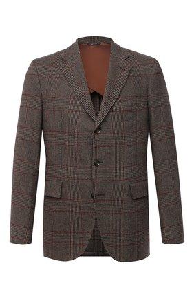 Мужской кашемировый пиджак LORO PIANA темно-коричневого цвета, арт. FAI7710 | Фото 1