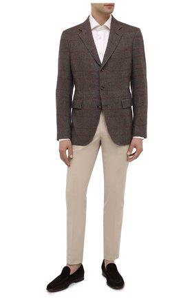 Мужской кашемировый пиджак LORO PIANA темно-коричневого цвета, арт. FAI7710 | Фото 2