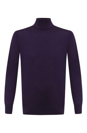 Мужской шерстяная водолазка LORO PIANA фиолетового цвета, арт. FAL3612 | Фото 1