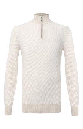 Мужской кашемировый джемпер LORO PIANA белого цвета, арт. FAL3430 | Фото 1