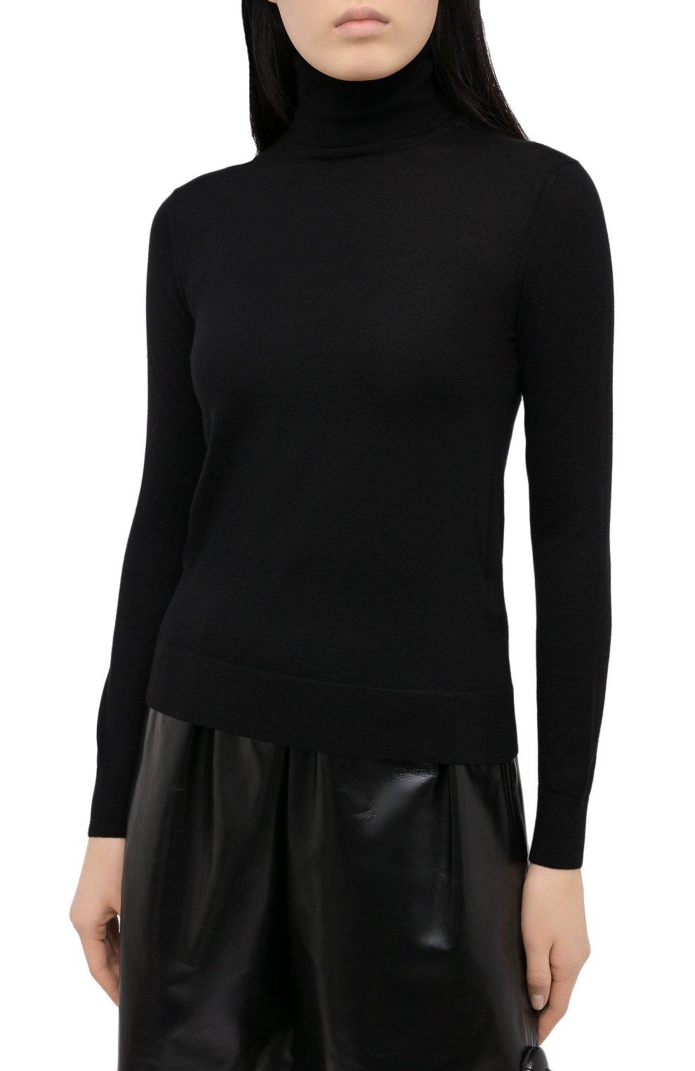 Женская кашемировая водолазка RALPH LAUREN черного цвета, арт. 290615195   Фото 3