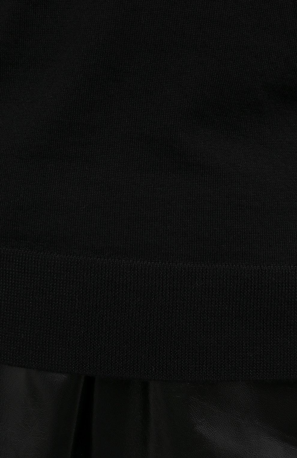 Женская кашемировая водолазка RALPH LAUREN черного цвета, арт. 290615195   Фото 5