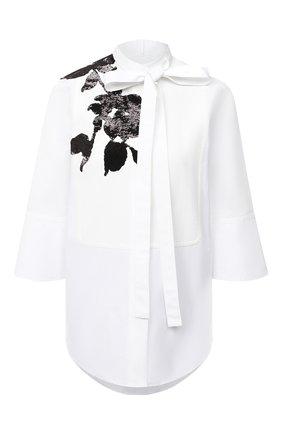 Женская хлопковая блузка VALENTINO белого цвета, арт. UB3AB18L5DN   Фото 1