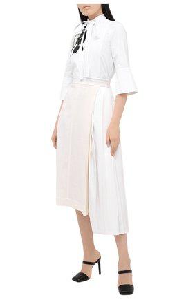 Женская хлопковая блузка VALENTINO белого цвета, арт. UB3AB18L5DN   Фото 2