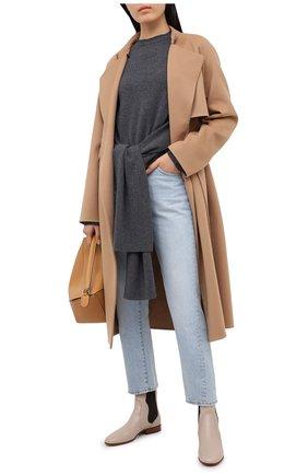 Женские кожаные челси laurelynn CHLOÉ бежевого цвета, арт. CHC20A351M8 | Фото 2
