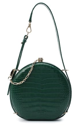 Женская сумка из кожи аллигатора canteen RALPH LAUREN зеленого цвета, арт. 435790384/AMIS | Фото 1