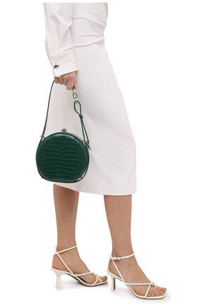 Женская сумка из кожи аллигатора canteen RALPH LAUREN зеленого цвета, арт. 435790384/AMIS | Фото 2