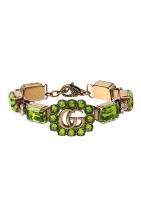 Женский браслет gg marmont GUCCI зеленого цвета, арт. 629540/I4769 | Фото 1
