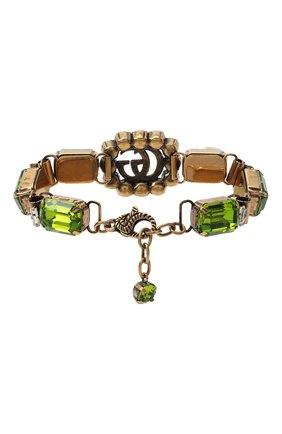 Женский браслет gg marmont GUCCI зеленого цвета, арт. 629540/I4769 | Фото 2