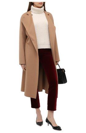 Женские джинсы KITON бордового цвета, арт. DJ50101X04T63 | Фото 2