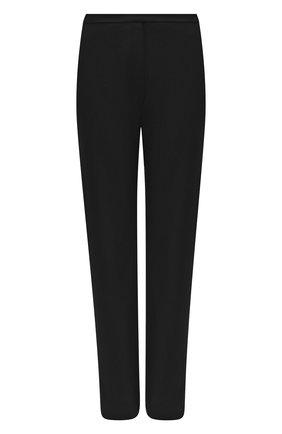 Женские шерстяные брюки BALMAIN черного цвета, арт. UF15248/167L | Фото 1
