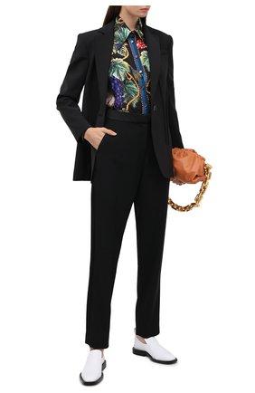 Женские шерстяные брюки BALMAIN черного цвета, арт. UF15248/167L | Фото 2
