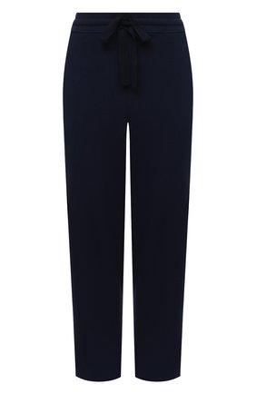 Женские брюки из вискозы ST. JOHN темно-синего цвета, арт. K800002   Фото 1
