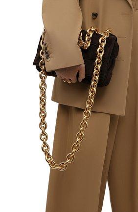 Женская сумка BOTTEGA VENETA темно-коричневого цвета, арт. 631421/V04N0 | Фото 2
