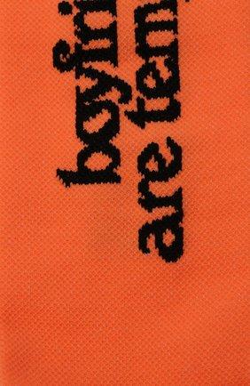 Женские хлопковые носки OFF-WHITE оранжевого цвета, арт. 0WRA003F20KNI0016610   Фото 2