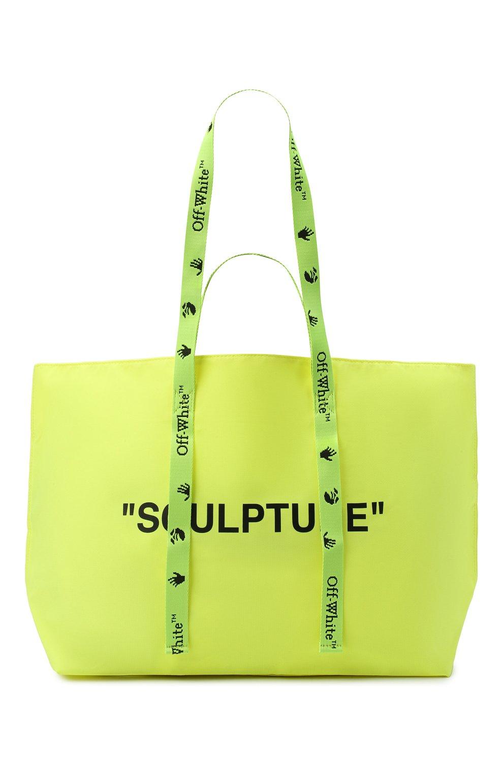 Женский сумка-тоут sculpture OFF-WHITE желтого цвета, арт. 0WNA094E20PLA0011810 | Фото 1