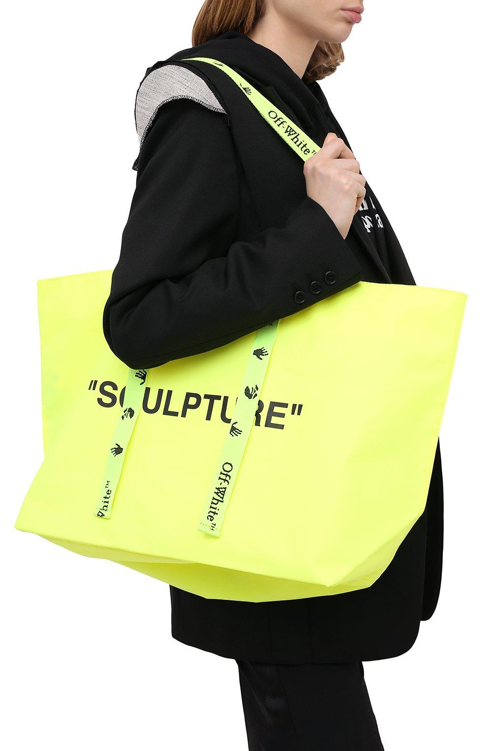 Женский сумка-тоут sculpture OFF-WHITE желтого цвета, арт. 0WNA094E20PLA0011810 | Фото 2