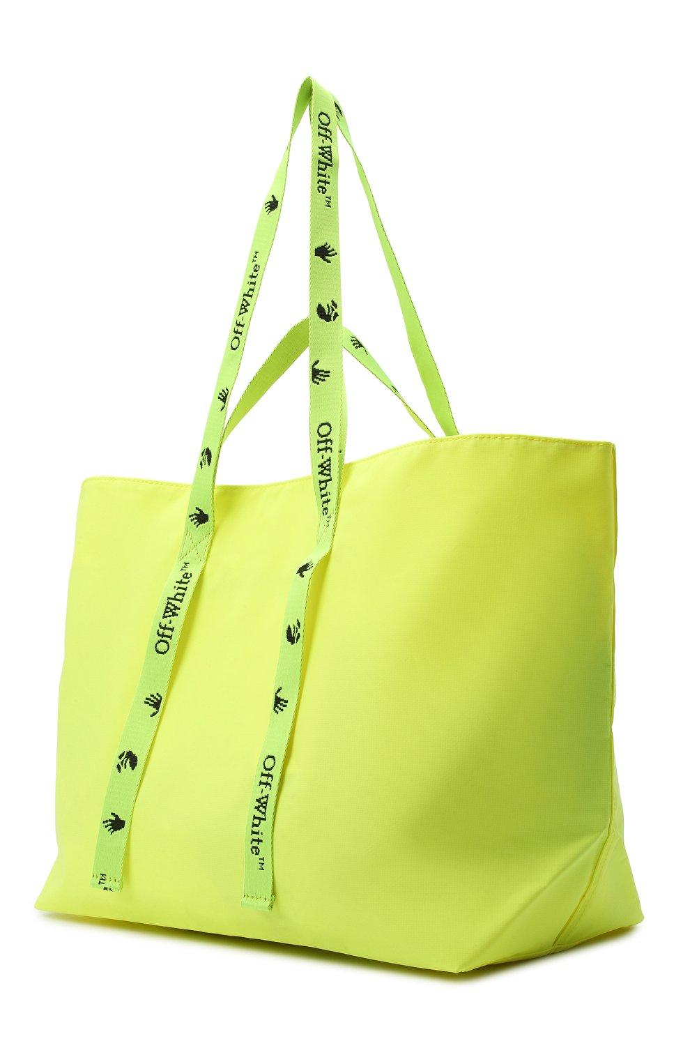 Женский сумка-тоут sculpture OFF-WHITE желтого цвета, арт. 0WNA094E20PLA0011810 | Фото 3